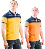 man wearing orange tshirt color correction sample