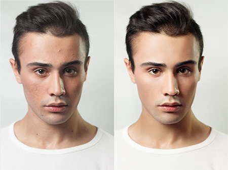 male model portrait retouch by imageediting