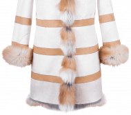 woman fur jacket masking by image editing