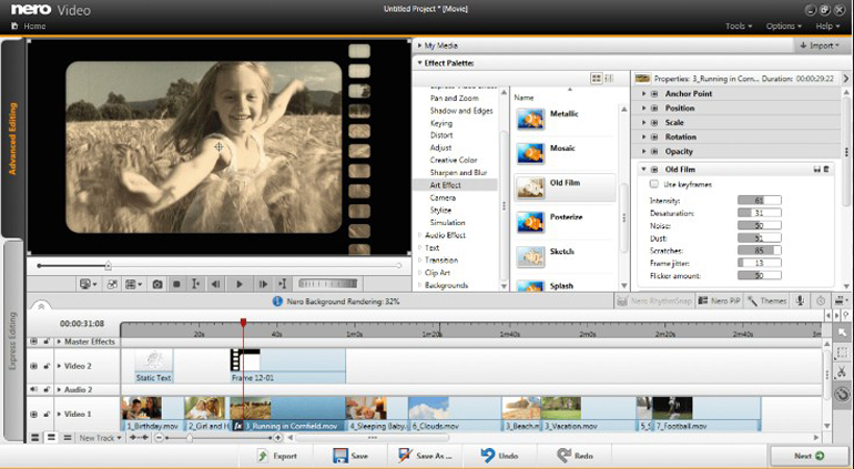 Nero Video Editor Screenshot