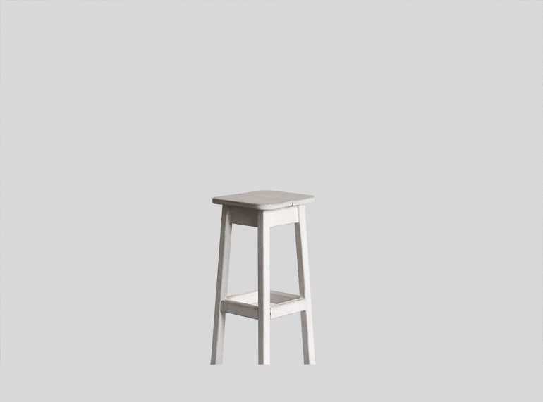 An Image of a White Stool