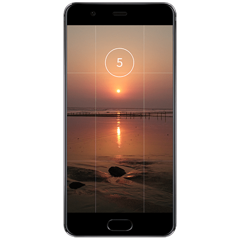 Taking the Picture of a Sunset Using Smartphone's Timer Option