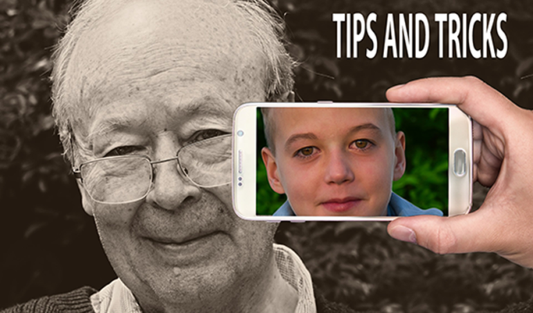 How the face of an old man can turn into a fresh face of a young boy by tips & tricks