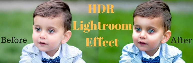 HDR Before and After Effect of a Boy