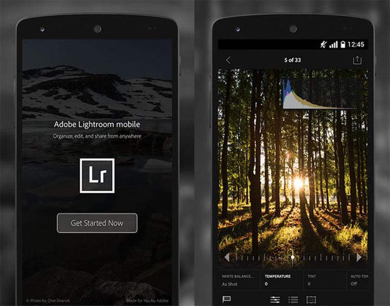 Adobe Lightroom in a Mobile
