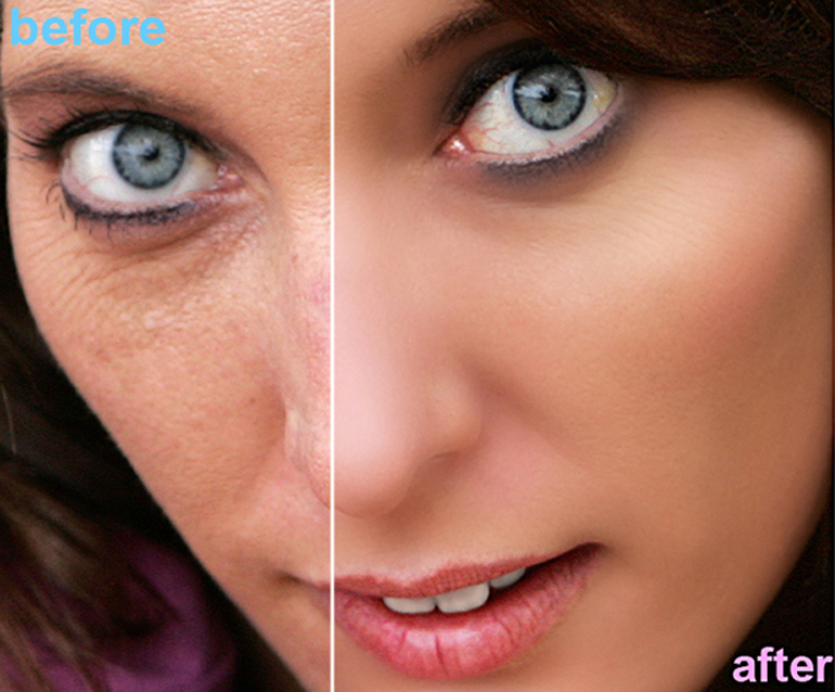 Retouching of a Female Model