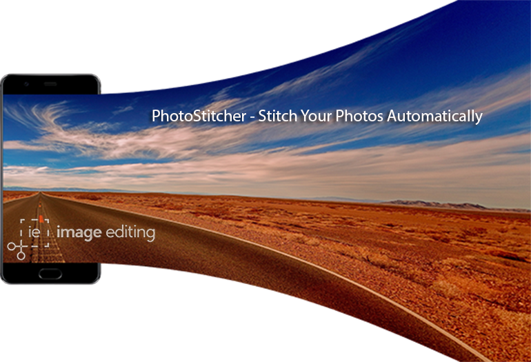 Panorama Picture of a Road and Desert