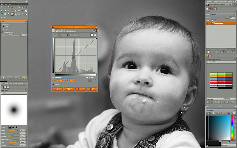 Photography of a Baby in GIMP