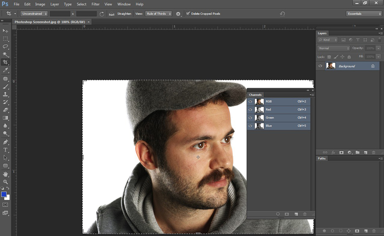 Male Model in Photoshop