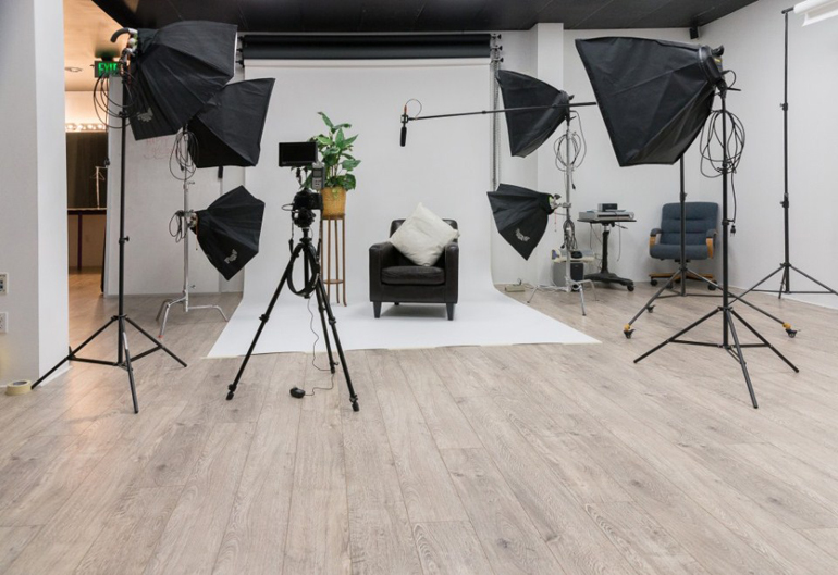 All Photography Instruments in a Photography Studio