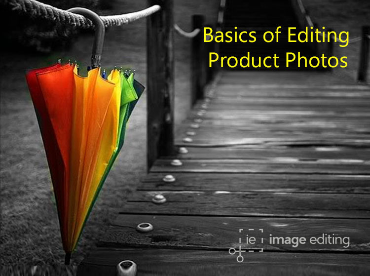 A colorful umbrella in a black white backdrop image edited by imageediting