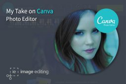 Effect Applied on a Female Model using Canva Photo Editor