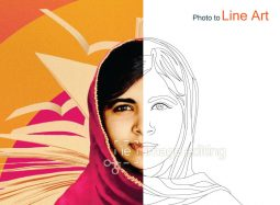 Malala Yousafzai's image used to show line art effect by ImageEditing