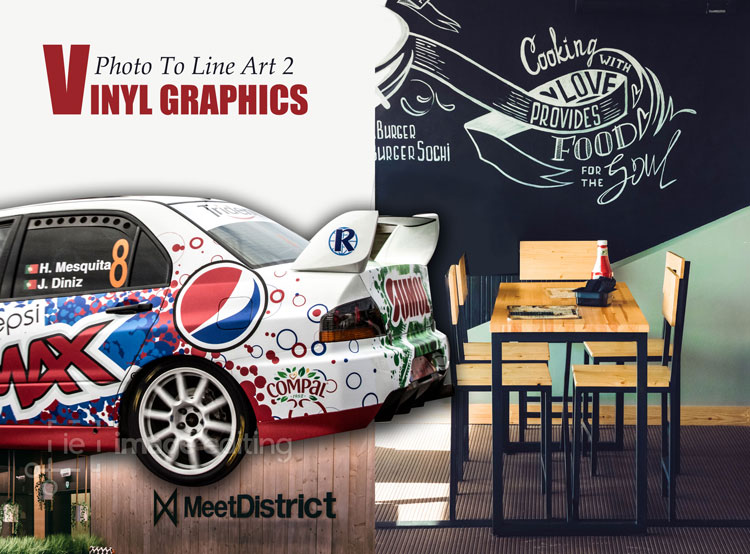 Examples of vinyl-graphics