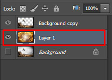 the New Layer is selected as in the middle