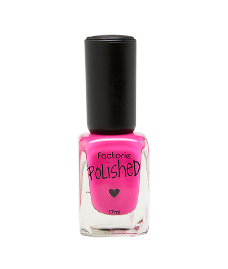 pink nail polish bottle with dust removal