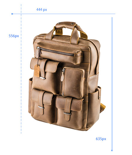 brown multi pocket leather bag resize sample