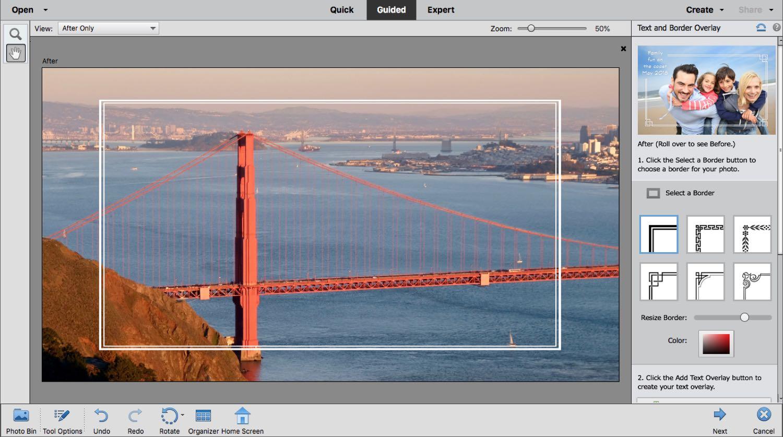 A bridge with frame