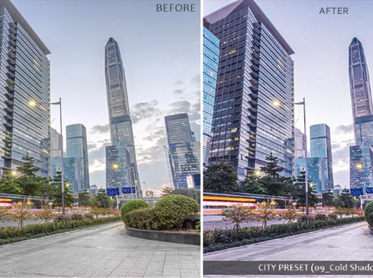 A shopping Mall before & after effect on After effect