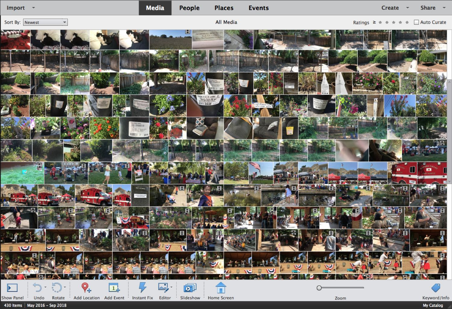 home Screen of the Adobe Photoshop Element