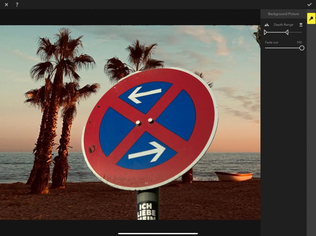 Move the sliders to fine-tune the background removal.